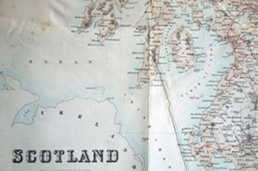 Map of Scotland in 1868